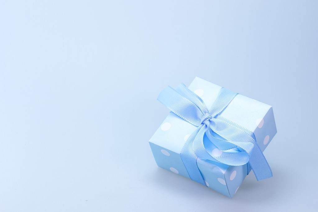 secret gift wrapped up for crush on lilac background