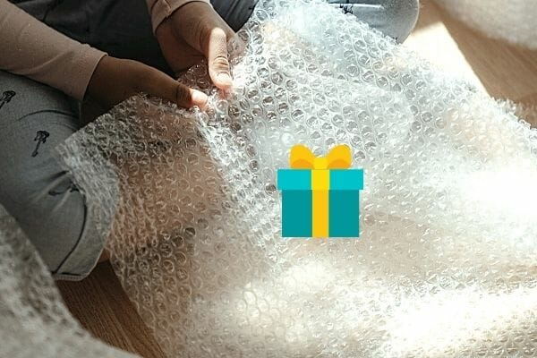 wrap gifts in bubble wrap