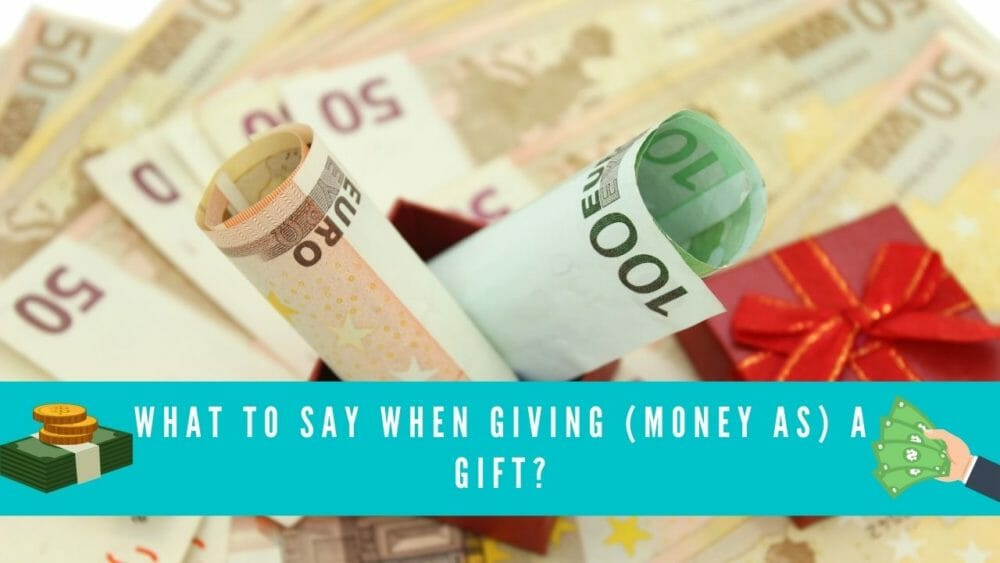 what to say when giving money as a gift blog banner