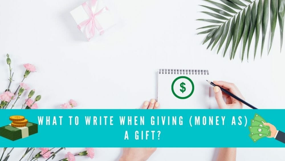 what to write when giving money as a gift blog banner